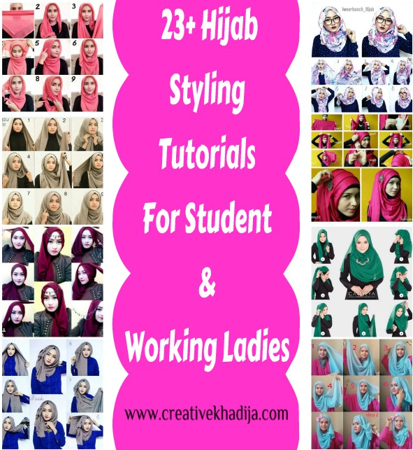 best hijab styles tutorials for girls working ladies and students