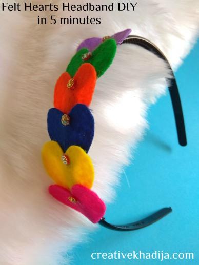 best felt hearts headbands making tutorial in 5 minutes
