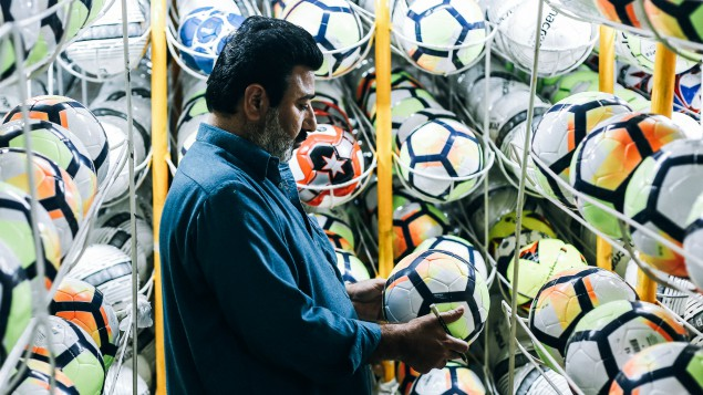 The Adidas Telstar 18 footballs made in Pakistan