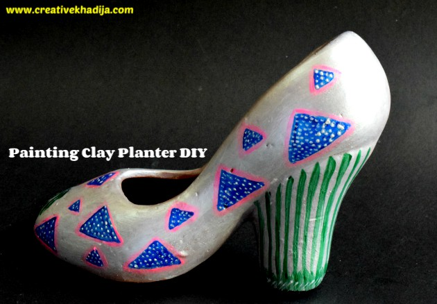 clay pot planter painting crafts ideas for home and garden