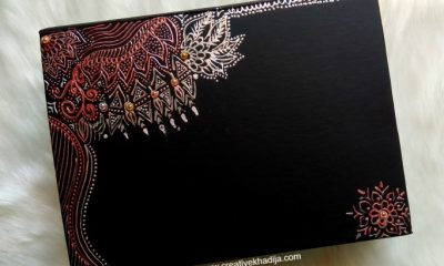 how to decorate gift box with mehndi painting ideas