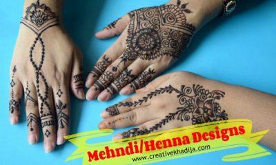 best mehndi designs for Eid-video tutorial on henna designing