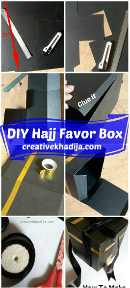 how to make Hajj favor box in Kaaba design-Tutorial