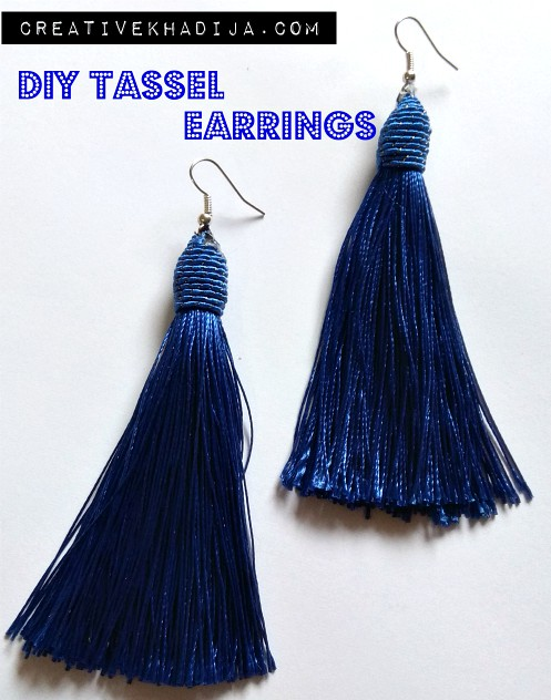 How To Make Tassel Earrings in two minutes only