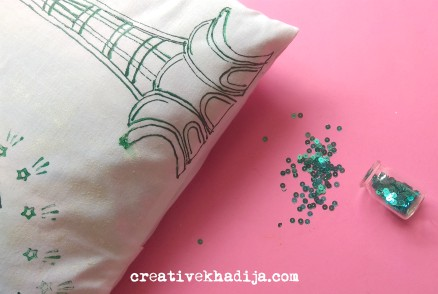 Pakistan independence day creative ideas minar-e-pakistan painting on pillow tutorial