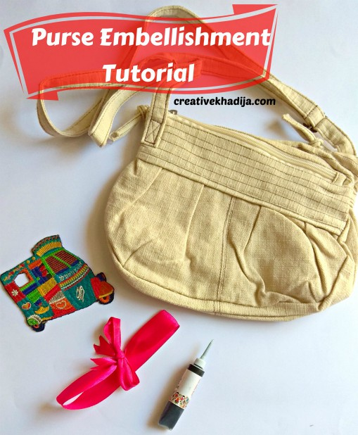 Unique Idea to transform and refurbish a plain handbag