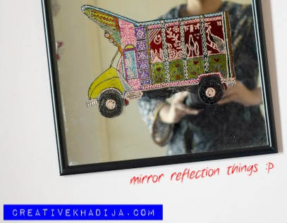 Pakistani truck art design glass painting tutorials
