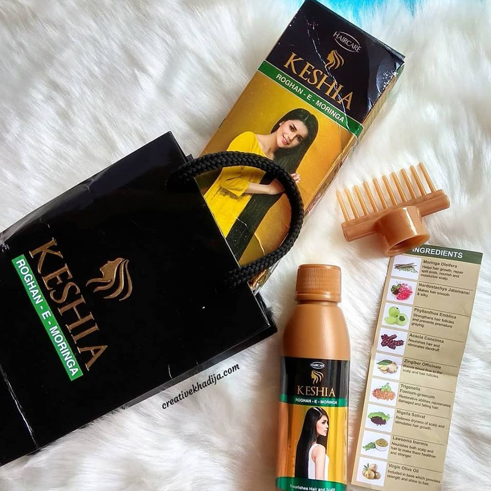skincare products-keshia hair oil review blog