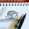 instagram inktober 2018 challenge pen and ink drawings by Creative Khadija