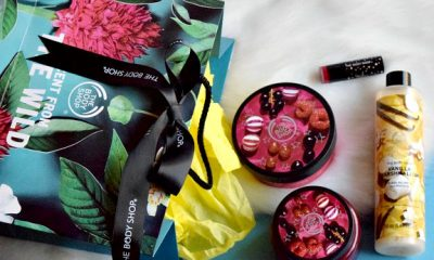 TheBodyShop berry bon bon sugar scrub & body butter review