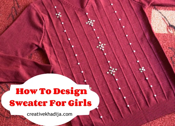 DIY upcycling old sweaters Girls sweater design sweater refashion tutorial  How to design easy & quick DIY sweater