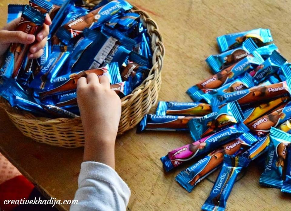 How to decorate and wrap a chocolate filled gift basket