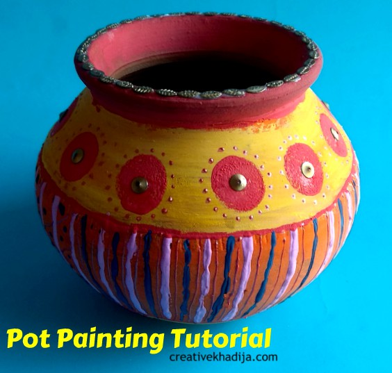 How To Paint, Design and Decorate Clay Pots Tutorial