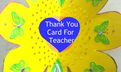 Thank You Card For Teacher Designed By My Little Niece