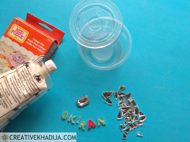 Creative Reuse Of Plastic Container By Decorating it with Collage Clay
