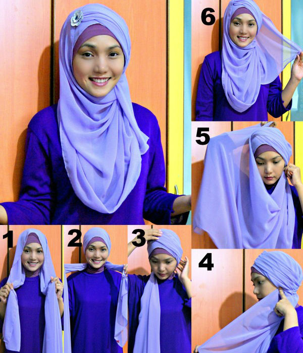 how to tie a hijab in easy and stylish way hijab styles