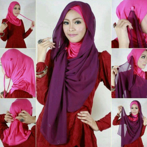 how to tie a hijab in easy and stylish way formal hijab style