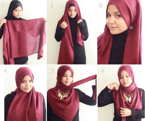 how to tie a hijab in easy and stylish way elegant hijab style