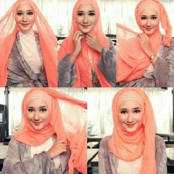 how to tie a hijab in easy and stylish way hijabi girl