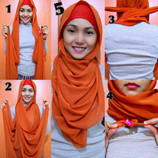 how to tie a hijab in easy and stylish way cute hijab style