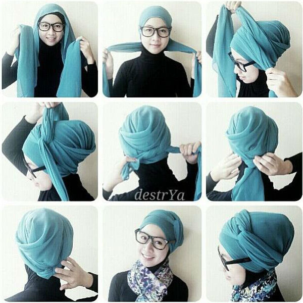 how to tie a hijab in easy and stylish way turban style hijab