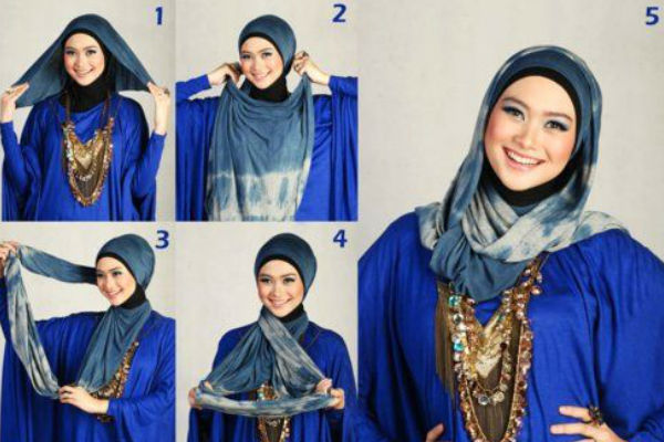 how to tie a hijab in easy and stylish way stylish hijab