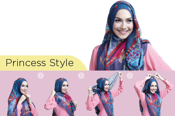 how to tie a hijab in easy and stylish way princess hijab