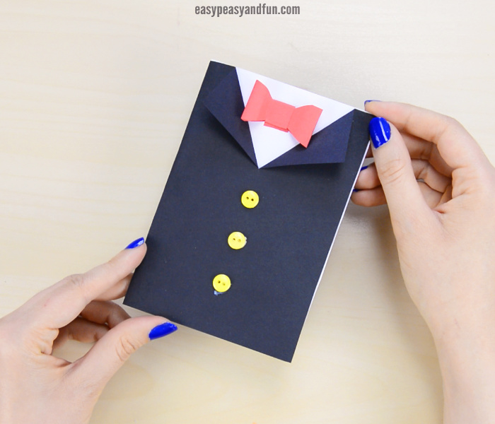 cute tuxedo fathers day crafts for preschoolers