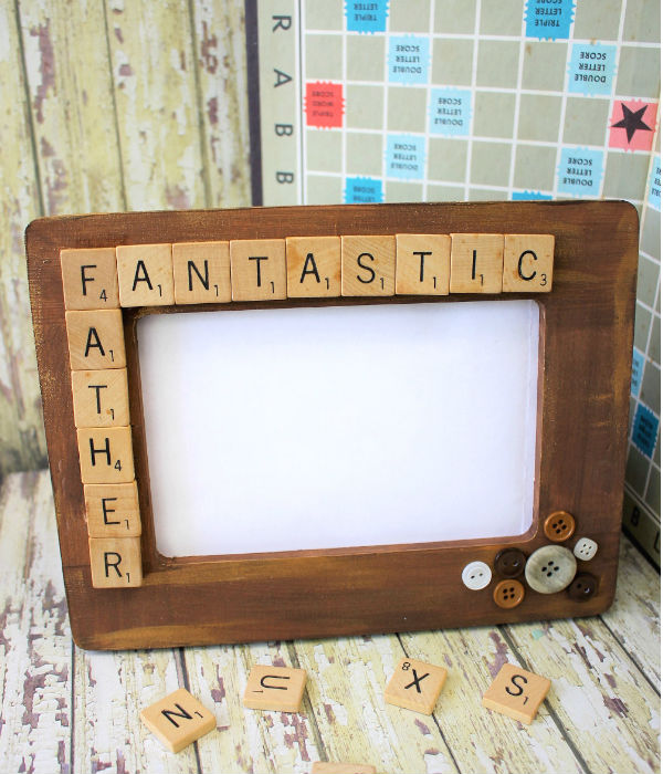fathers day crafts for preschoolers scrabble tile frame