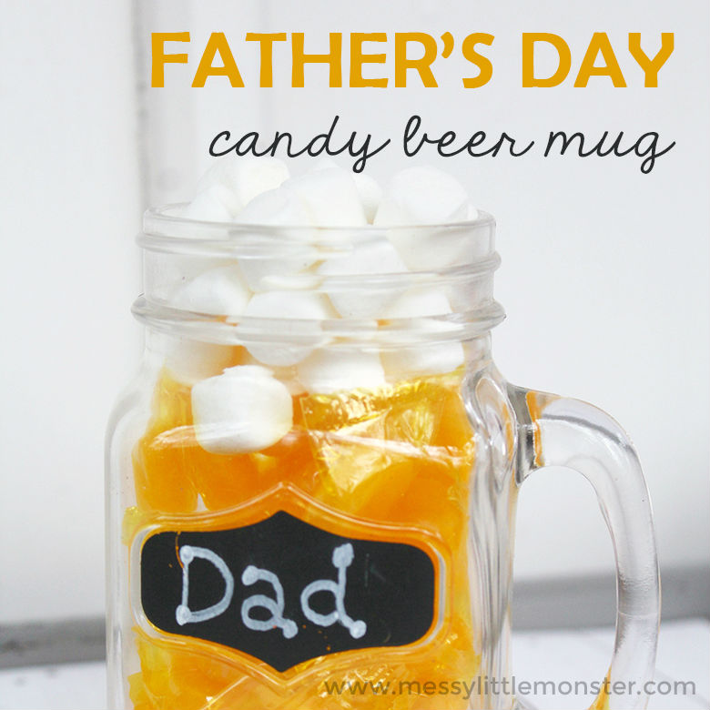fathers day crafts for preschoolers candy beer mug