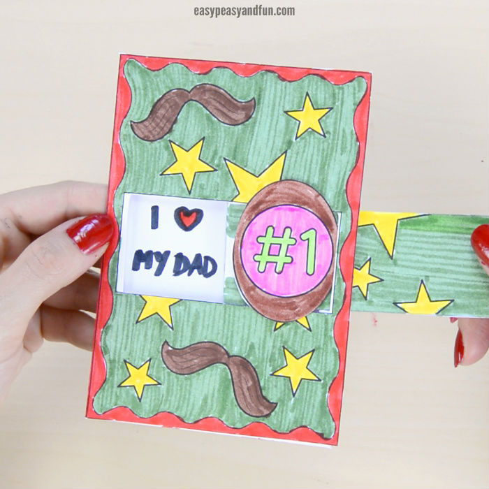 fathers day crafts for preschoolers hidden message card
