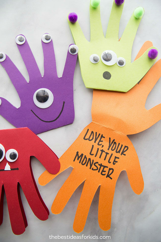 fathers day crafts for preschoolers monster card