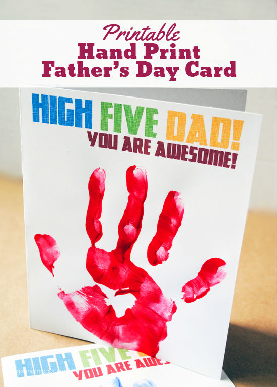 fathers day crafts for preschoolers handprint card