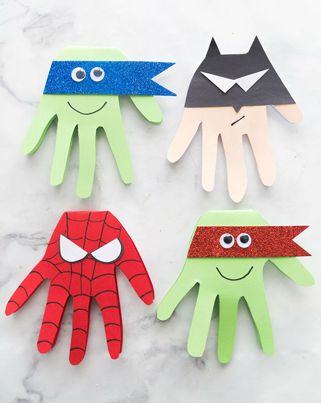 fathers day crafts for preschoolers superhero card