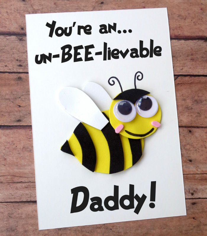 fathers day crafts for preschoolers honeybee card