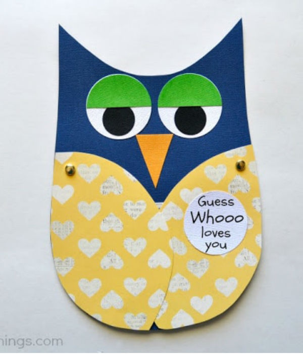 fathers day crafts for preschoolers owl card