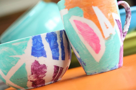 fathers day crafts for preschoolers gift mug and bowl