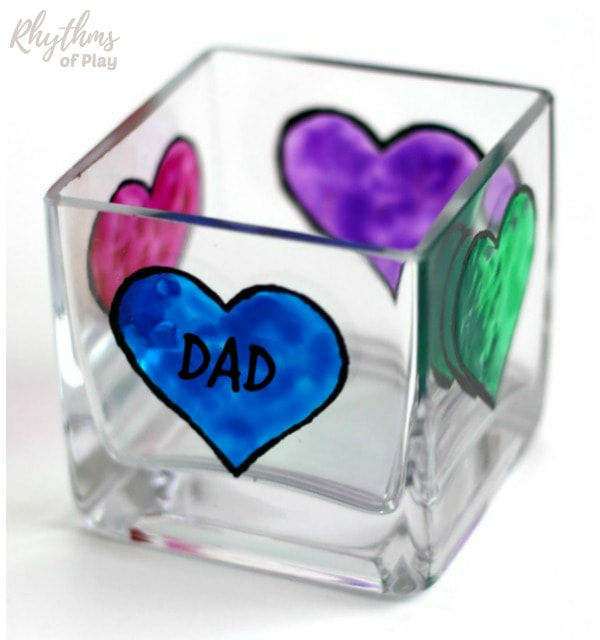 fathers day crafts for preschoolers candle holder