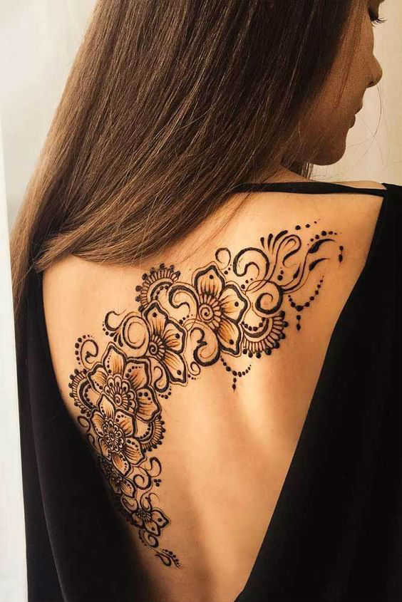 latest mehndi designs for girls henna body art 3