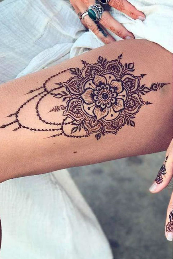 latest mehndi designs for girls henna body art 6