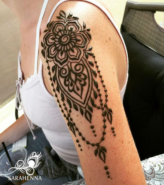 latest mehndi designs for girls henna body art 9