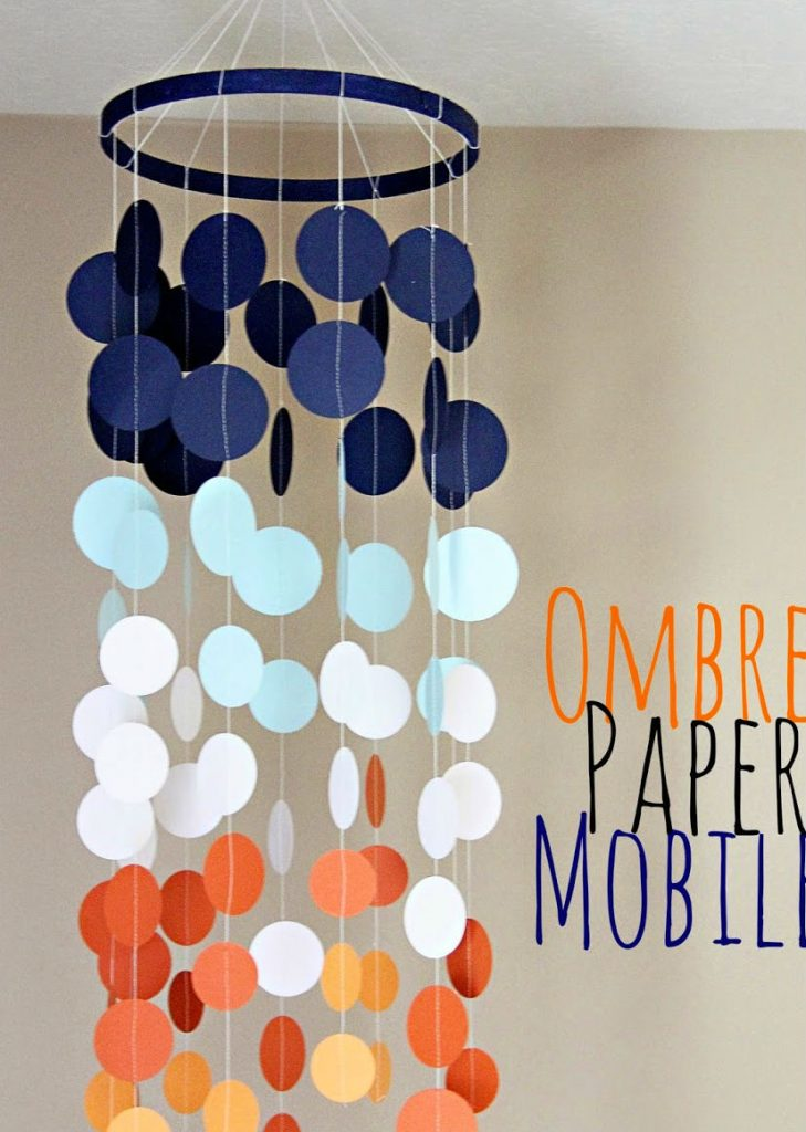 paper crafts for home decoration ombre paper mobile