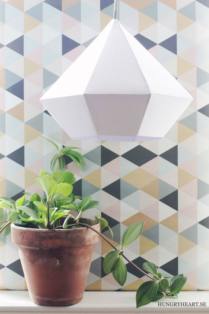 paper crafts for home decoration diamond pendant light