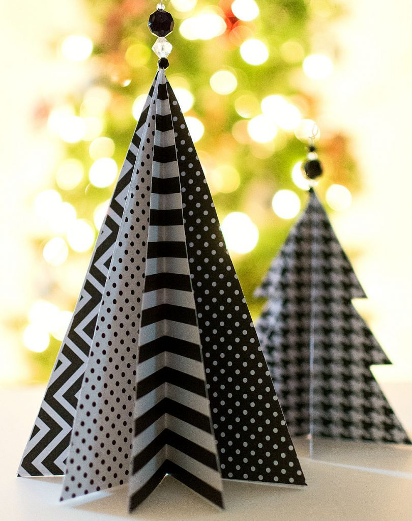 paper crafts for home decoration Christmas paper tree