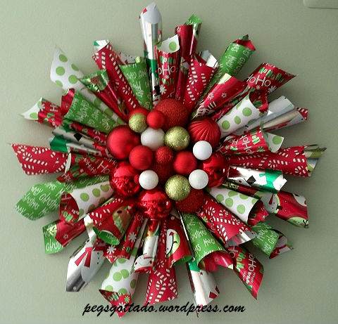 paper crafts for home decoration Christmas wreath