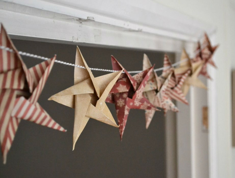 paper crafts for home decoration origami star garland