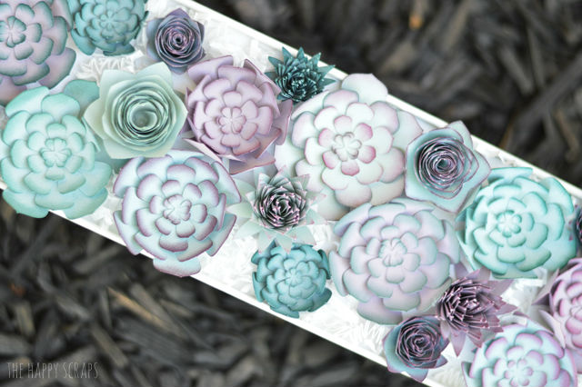 paper crafts for home decoration succulent centerpiece