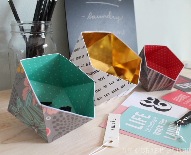 paper crafts for home decoration geometric bowls