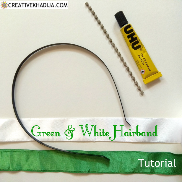 Pakistan's Independence Day Green and White Hairband for Girls