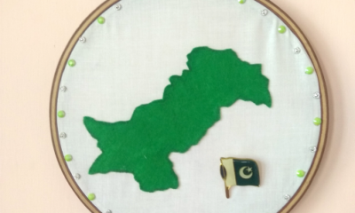 Wall Art Decor DIY for Pakistan Independence Day